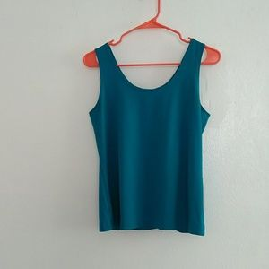 Perfect peacock teal tank, super soft